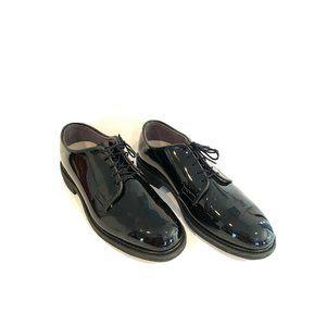 Bates Black Patent Leather Lace Oxford Dress Shoes